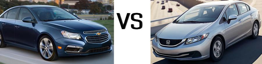 2015 Chevrolet Cruze vs Honda Civic