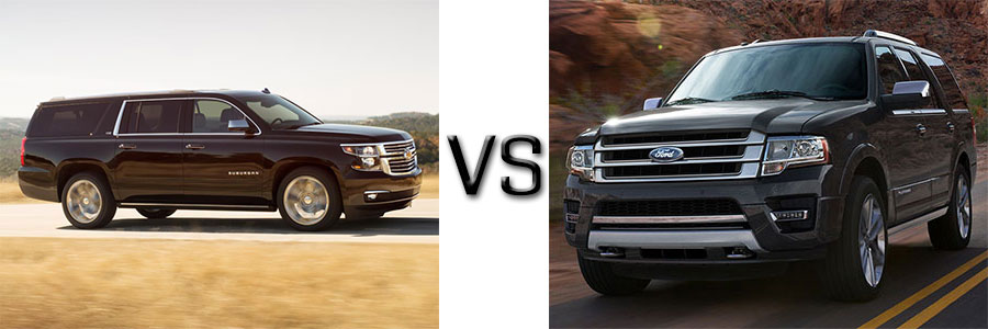 2015 Chevrolet Suburban vs Ford Expedition