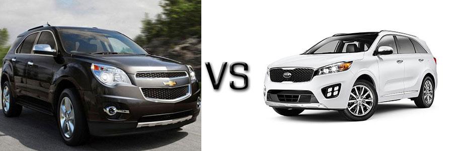 2015 Chevrolet Equinox vs Kia Sorento