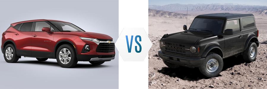 2021 Chevy Blazer vs Ford Bronco