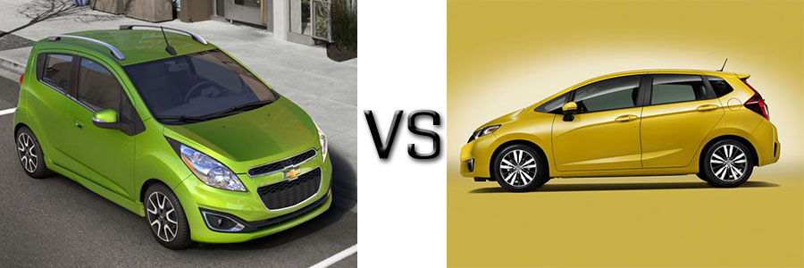 2015 Chevrolet Spark vs Honda Fit