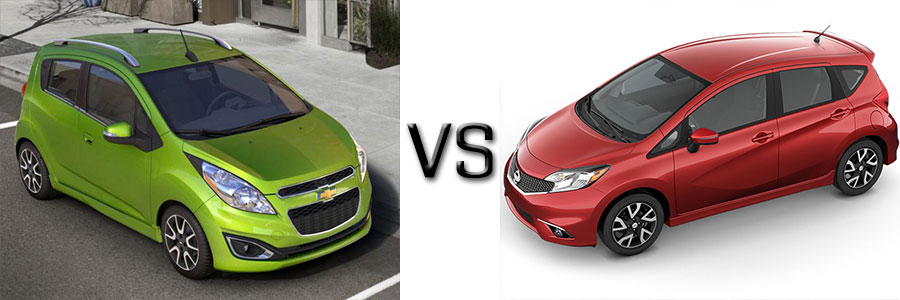 2015 Chevrolet Spark vs Nissan Versa Note