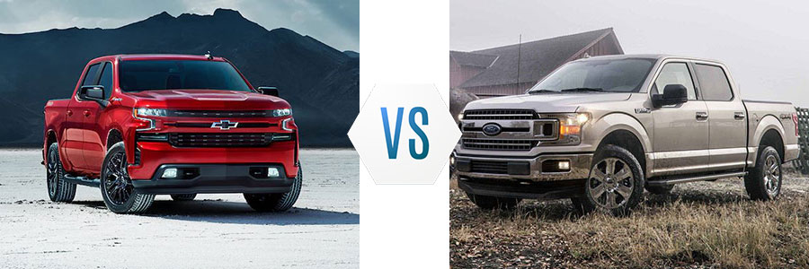 2019 Chevrolet Silverado 1500 vs Ford F-150