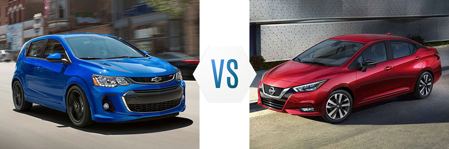 2020 Chevrolet Sonic vs Nissan Versa
