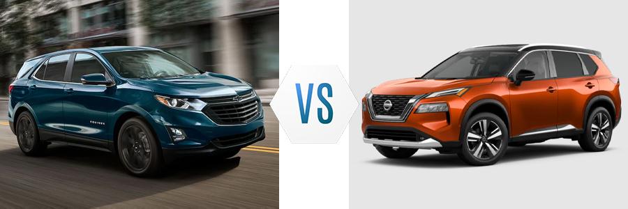 2021 Chevy Equinox vs Nissan Rogue