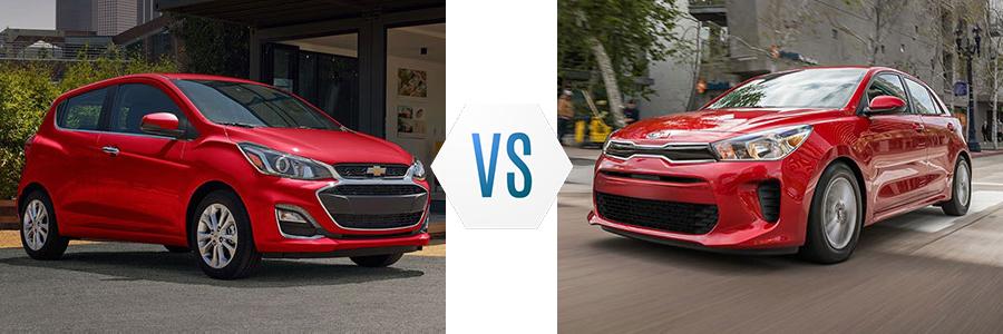 2020 Chevrolet Spark vs Kia Rio