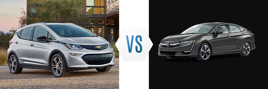 2020 Chevrolet Bolt vs Honda Clarity Plug-In Hybrid