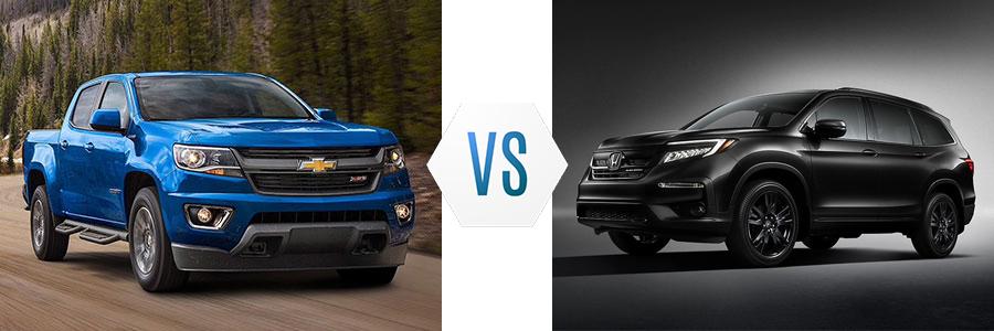 2020 Chevrolet Colorado vs Honda Pilot