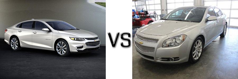 2016 Chevrolet Malibu vs 2012 Chevrolet Malibu